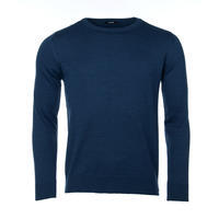 Men's wool Merino Extra Fine sweater - Navy Blue