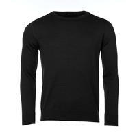 Men's wool sweater made of Extra Fine Merino wool - Black Night