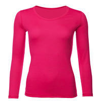 Women's functional T-shirt made of Merino wool - long sleeves - pink