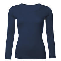 Women's functional T-shirt made of Merino wool - long sleeves - dark blue