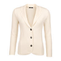 Women's woollen cardigan made of Extra Fine Merino wool - Vanilla Ice