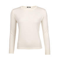 Women's wool sweater made of Extra Fine Merino wool - Vanilla Ice
