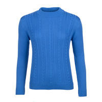 Women's patterned wool sweater made of Extra Fine Merino wool - Blue Heaven