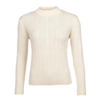 Women's patterned wool sweater made of Extra Fine Merino wool - Vanilla Ice