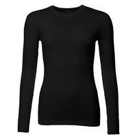 Women's functional T-shirt made of Merino wool - long sleeves - black