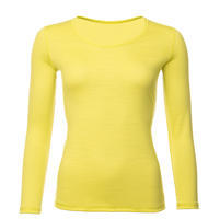 Women's functional T-shirt made of Merino wool - long sleeves - yellow