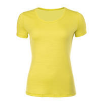 Women's functional T-shirt made of Merino wool - yellow