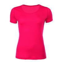 Women's functional T-shirt made of Merino wool - pink