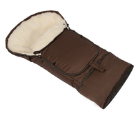 Children's footmuff Woolife Kombi Cashmere brown
