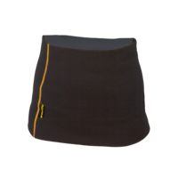 Women's functional kidney belt made of Merino wool - black with orange stitching