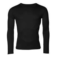 Men's functional T-shirt made of Merino wool - long sleeves - black