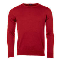 Men's wool Merino Extra Fine sweater - Claret