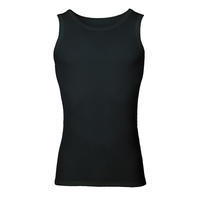Men's functional undershirt made of Merino wool - black