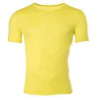 Men's functional T-shirt made of Merino wool - yellow