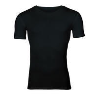 Men's functional T-shirt made of Merino wool - black