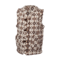 Wool vest with pattern