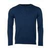 Men's wool Merino Extra Fine sweater - Navy Blue, XL - 1/2