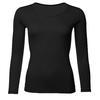 Women's functional T-shirt made of Merino wool - long sleeves - black - 1/3