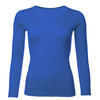 Women's functional T-shirt made of Merino wool - long sleeves – vivid blue, M - 1/3