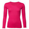 Women's functional T-shirt made of Merino wool - long sleeves - pink - 1/3