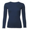 Women's functional T-shirt made of Merino wool - long sleeves - dark blue - 1/3