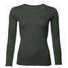 Women's functional T-shirt made of Merino wool - long sleeves - green, XXL - 1/3