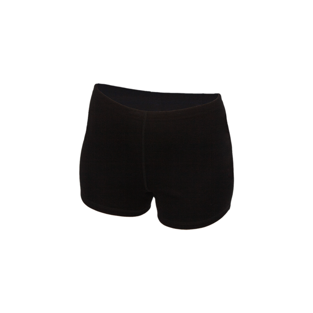 Women's functional boxer shorts made of Merino wool - black, S - 1