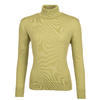 Women's polo neck sweater made of Extra Fine Merino wool - Cedar Green - 1/3