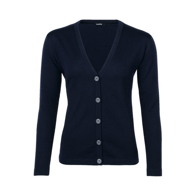 Women´s wollen sweater VK Merino Extra Fine - Dark Blue, S - 1