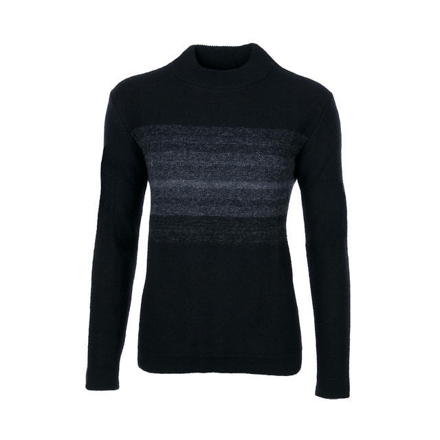 Women's wool sweater made of Extra Fine Merino wool GS - Black/Grey - 1