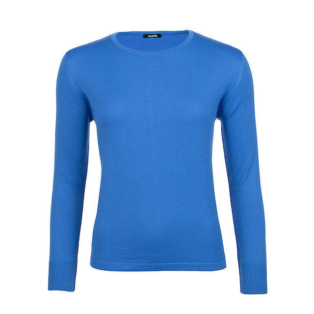 Women's wool sweater made of Extra Fine Merino wool - Blue Heaven - 1