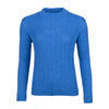 Women's patterned wool sweater made of Extra Fine Merino wool - Blue Heaven, L - 1/3