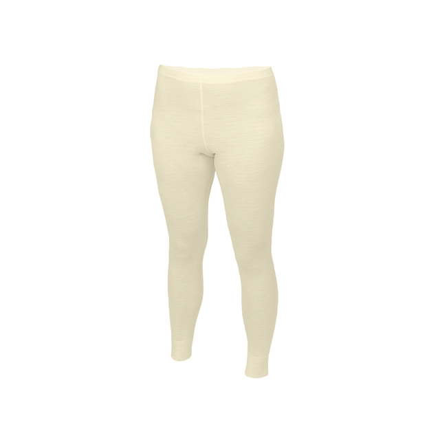 Functional girls' leggings made of Merino wool - natural, 158 - 1