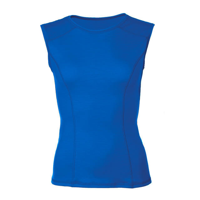 Women's functional undershirt made of Merino wool - blue - 1