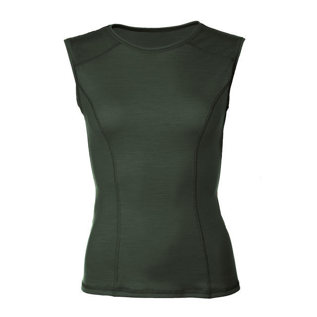 Women's functional undershirt made of Merino wool - green, L - 1