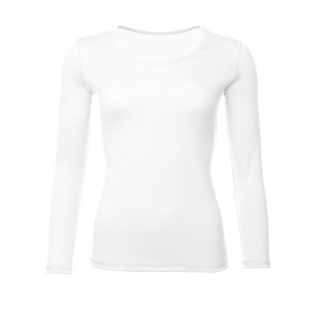 Women's functional T-shirt Merino Wool 195 Long Sleeves White, L - 1