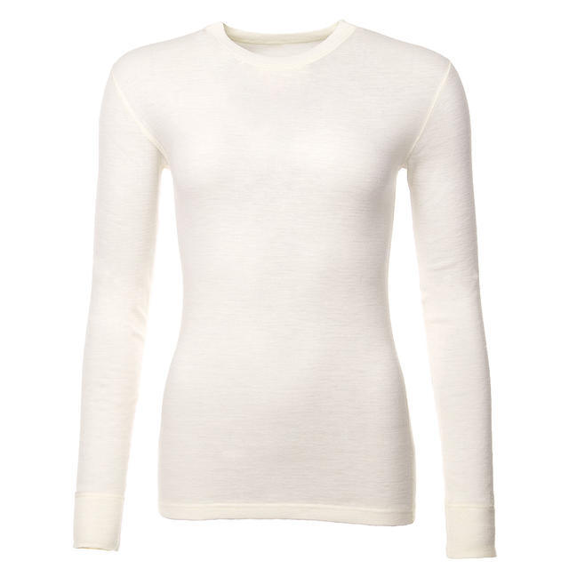 Women's functional T-shirt made of Merino wool - long sleeves - natural - 1