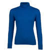 Women's polo neck sweater made of Extra Fine Merino wool - Blue Heaven - 1/3