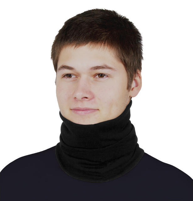 Men's functional balaclava made of Merino wool - black - 1