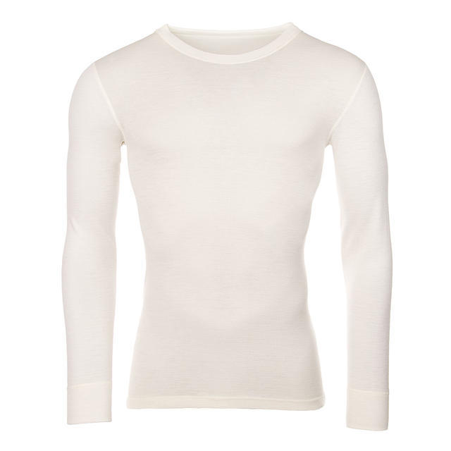 Men's functional T-shirt made of Merino wool - long sleeves - natural, S - 1