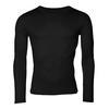 Men's functional T-shirt made of Merino wool - long sleeves - black, XL - 1/3
