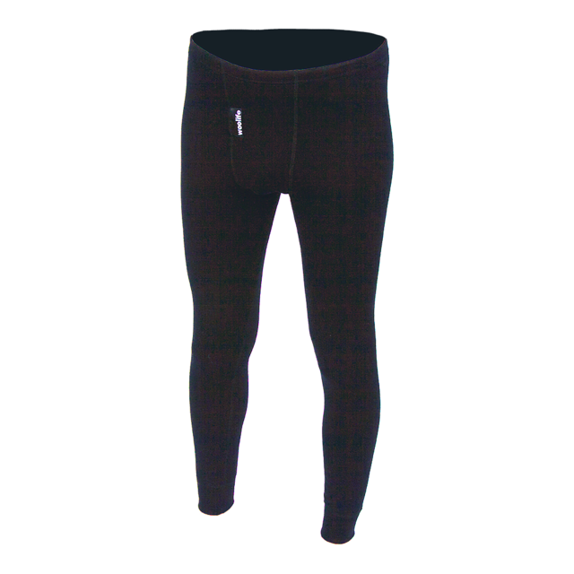 Men's functional long johns made of Merino wool - black, S - 1