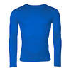 Men's functional T-shirt made of Merino wool - long sleeves - blue, L - 1/3