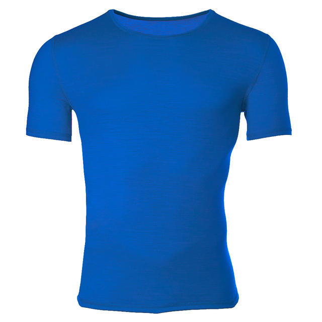 Men's functional T-shirt made of Merino wool - blue, L - 1