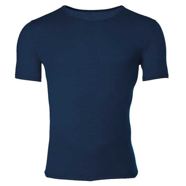 Men's functional T-shirt made of Merino wool - dark blue - 1