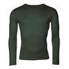 Men's functional T-shirt made of Merino wool - long sleeves - green, M - 1/3