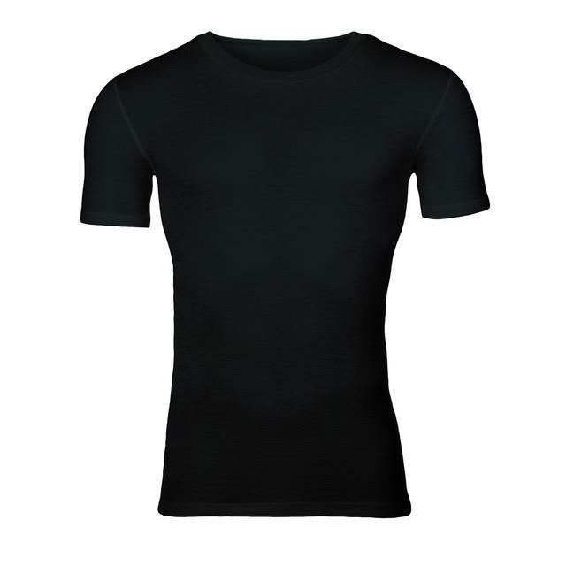 Men's functional T-shirt made of Merino wool - black - 1