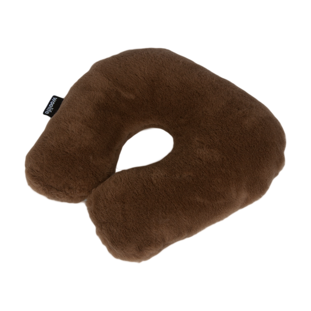 Horseshoe Pillow Merinowool with Camel - 1