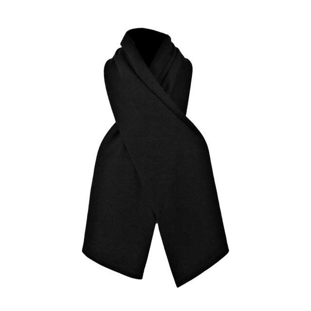 Functional thermo scarf made of Merino wool - black, Size UNI - 1