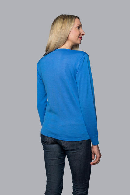 Women's wool sweater made of Extra Fine Merino wool - Blue Heaven, XL - 3